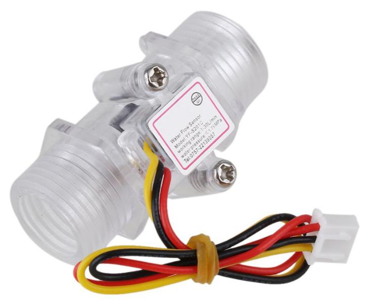 1- 2inch DN15 Transparent Water Flow Meter Flow Meter Hall Flow Sensor Indicator Counter (1)