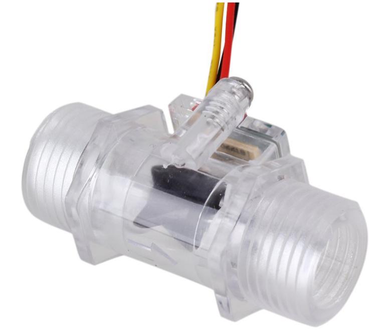 1- 2inch DN15 Transparent Water Flow Meter Flow Meter Hall Flow Sensor Indicator Counter (2)