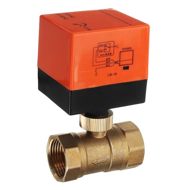 Motorized Electric Brass Ball Valves 3 Wire AC 220V Full Port Valve (2)