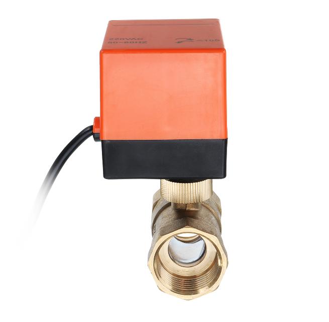 Motorized Electric Brass Ball Valves 3 Wire AC 220V Full Port Valve (3)
