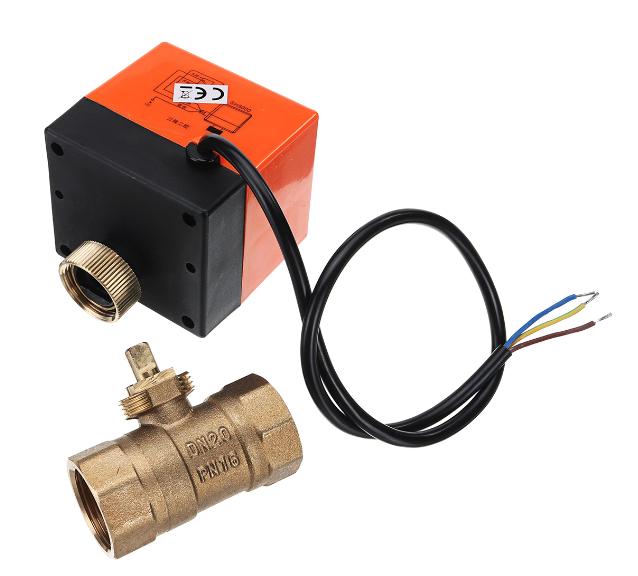 Motorized Electric Brass Ball Valves 3 Wire AC 220V Full Port Valve (6)